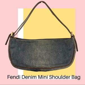 💯% AUTH ⭐️ Fendi Denim Shoulder Bag